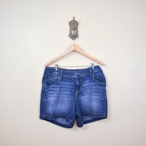 LANE BRYANT Midrise Denim Jean Shorts